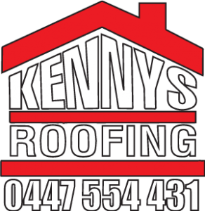 Kennys roofing logo with phone number