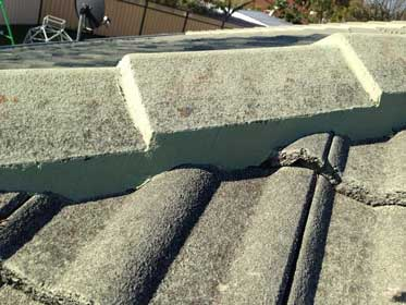 Roof ridge capping repair repointed with flexibla mortar